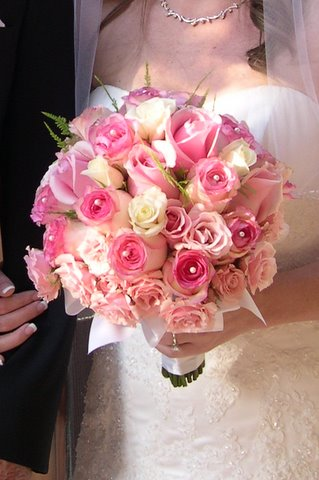 Jennifer S Pink Bridal Bouquet
